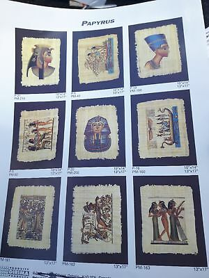 Genuine Egyptian hand painted Papyrus