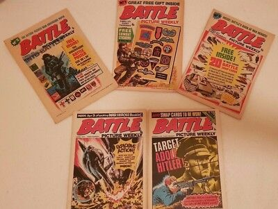 Battle Picture Weekly No 1, 2, 3, 4 & 5 8/3/1975-5/4/1975