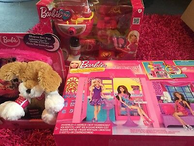 Barbie Doll House Coffee/Smoothie Shop And Sleepover Party Pup