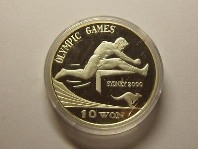 1999 Years Korea Silver 10 Won. Olympic Games- Sydney.