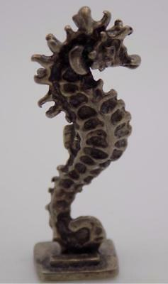 Vintage Solid Silver Italian Made Seahorse Miniature, Figurine, Stamped