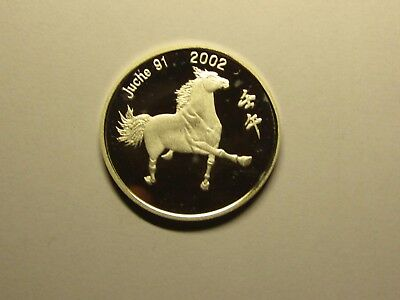 2002 Years Korea 5 Silver Won. Horse.