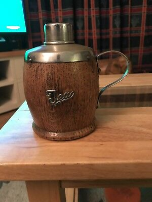 Wooden Oak Tea Flask/Caddy