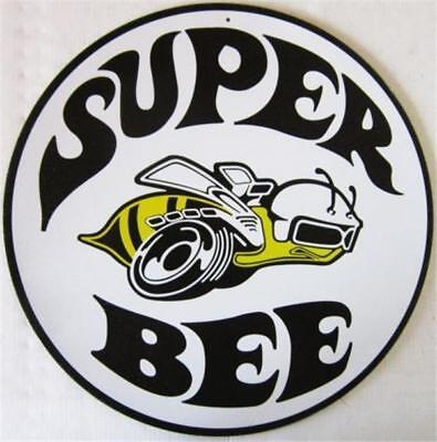 Dodge Super Bee Round  Metal Tin Sign
