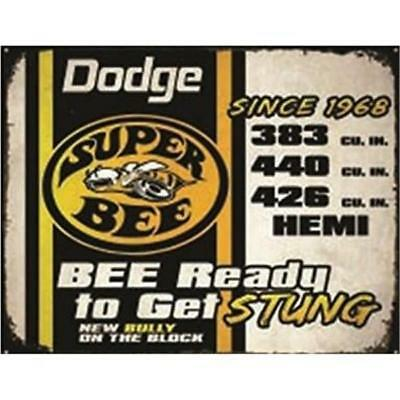 Dodge Super Bee Since 1968 Classic Cars  Metal Tin Sign