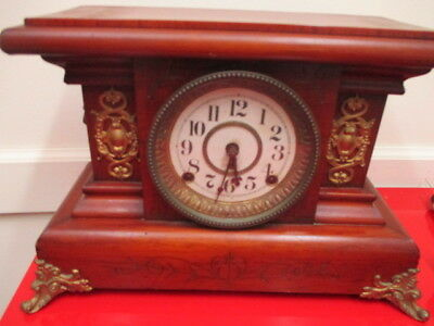 Antique Ornate SETH THOMAS Adamantine Mantel Clock Lions Footed