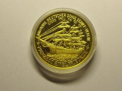 2000 Years Korea One Won. Commemorative. Ship. Brass