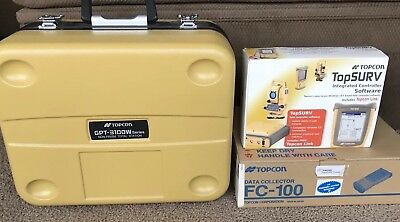 Topcon GPT-3105W Total Station and FC-100 Data Collector - NEW
