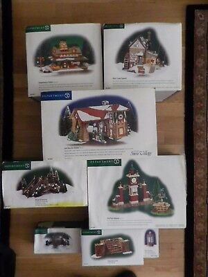Christmas Department 56 Snow Village Houses & Village Accessories Fieldstone