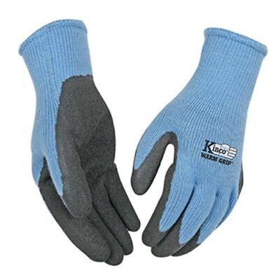 KINCO 1790W-S Women's Warm Grip Thermal Latex Coated Gloves Small Blue/Gray