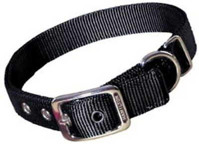 Hamilton Double Thick Nylon Deluxe Dog Collar 1-Inch by 32-Inch Black