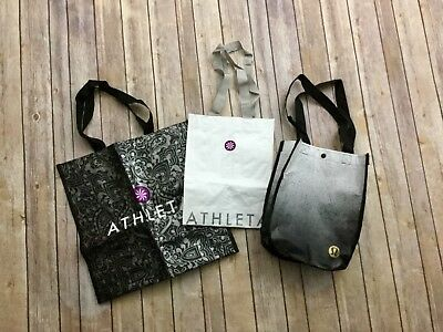 Lululemon Athleta Eco Reusable Shopping Tote Lot of 3 Yoga Gym Lunch Bags