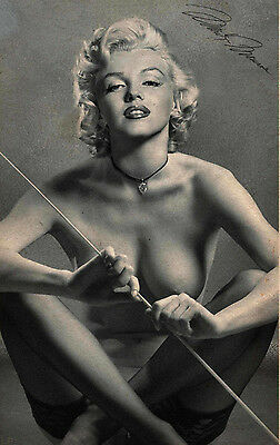 HOT SEXY PHOTO/PRINT A4  .marilyn monroe autographed signed (8x12)