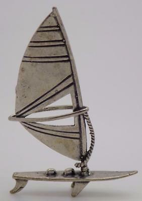 Vintage Solid Silver Italian Made Windsurf Miniature, Figurine, Stamped