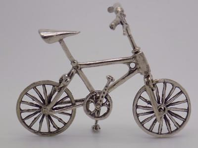 Vintage Solid Silver Italian Made Bicycle Miniature, Figurine, Stamped
