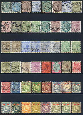 Zanzibar 1866-1927 Highly Catalogue Mint & Used Range Of 174 Stamps Vals To 5R