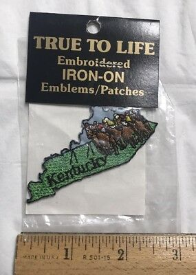 NIP Kentucky Derby Horses Racing KY Souvenir Embroidered Iron-on Emblem Patch
