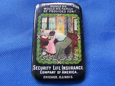 Security Life Insurance Copany of America  Celluloid  Pocket Mirror Advertising