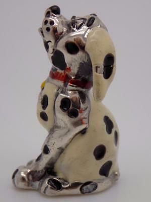 Vintage Sterling Silver 925 Italian Made Dalmatian Miniature, Figurine, Stamped