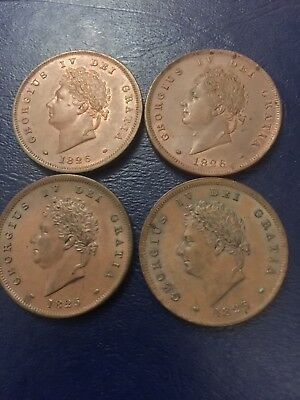 George Iv Pennys X4 1826 X2 1825 X2 Beautiful Coin Needs To Be Seen