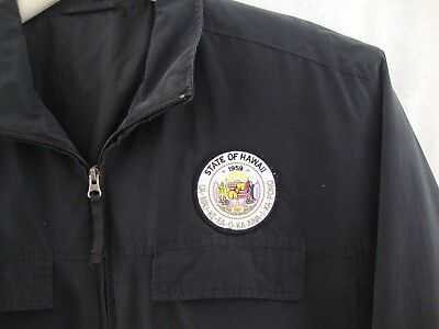 Rare Vintage State of Hawaii Worker Jacket w/ State Seal  XL