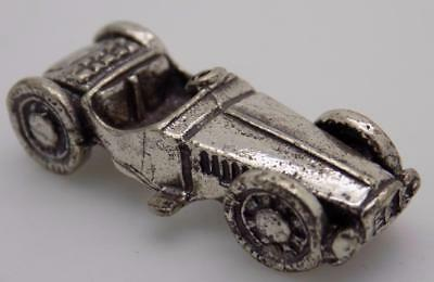 Vintage Solid Silver Italian Made 1930 Alfetta Car Miniature, Figurine, Stamped