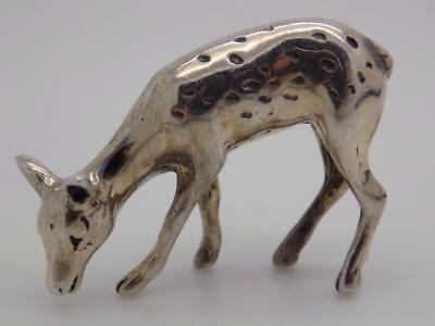 Vintage Sterling Silver 925 Italian Made Fawn / Bambi Miniature, Figurine, Stamp