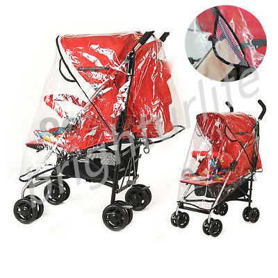 Universal Buggy Pushchair Stroller Pram Transparent Clear Rain Cover Baby Infant