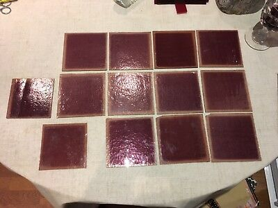 13 x Purple Antique Glass Panes
