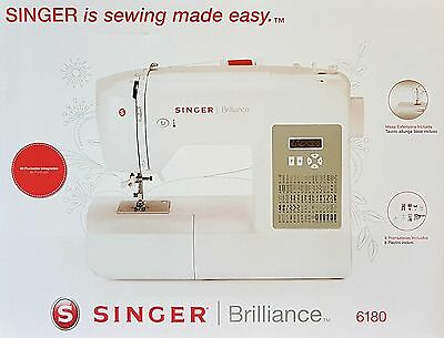 Singer Brilliance 6180 Freiarm Nähmaschine Computernähmaschine