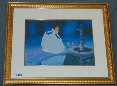 Disney Hand Painted Cel Cinderella Reflection In The Fountain 136/500 With COA