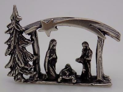 Vintage Solid Silver Italian Made Christmas Nativity Miniature, Figurine, Stamp
