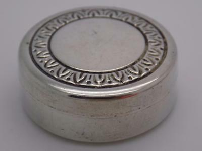 Vintage Sterling Silver 925 Italian Made Round Shaped Pill / Snuff Box, Stamped