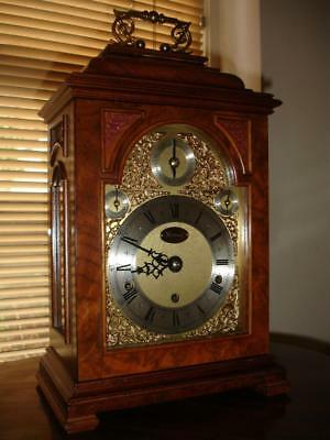 Elliott Triple Fusee Bracket. Mantle Clock With Month Duration On 9 Bells