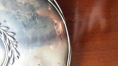 Heavy Antique Sterling Silver Hand Mirror hallmarked