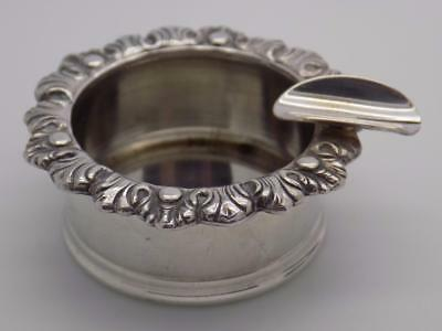 Vintage Solid Silver Italian Made Ashtray Ash Tray Stamped, Usable