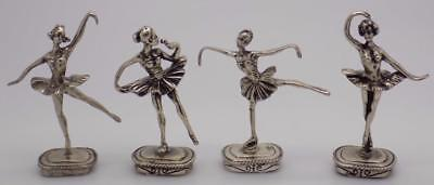 68g/2.4-oz. Vintage Solid Silver Ballerina / Dancer Collection, Job Lot, Stamped