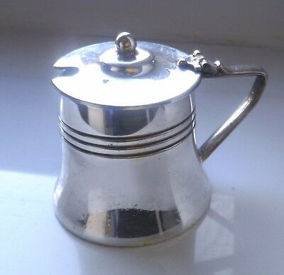 SHEFFIELD SILVER PLATED ART DECO c1920 MUSTARD POT WITH LINER