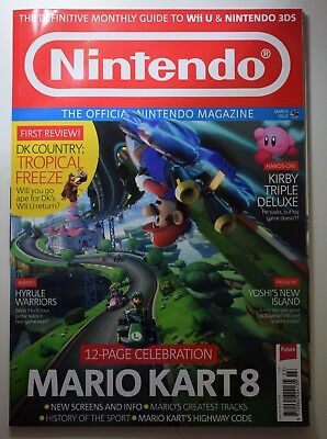 NIntendo magazine issue 105 March 2014 Mario kart 8