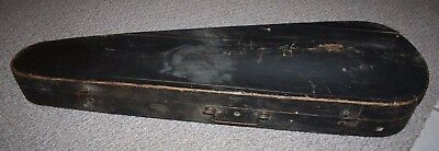 Antique 1800's Violin Coffin Case Original GSB Wooden Case Only Labeled