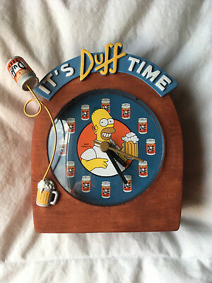 2002 Simpson's Duff Beer - IT'S DUFF TIME  Clock - Homer Simpson