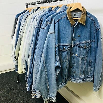 25 X RETRO 80's/90's DENIM JACKETS - VINTAGE JOB LOT WHOLESALE