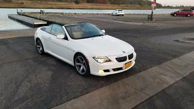 2009 BMW 6-Series 650i 2009 BMW 650i 51k Miles Sport Package Clean Convertible Navigation White