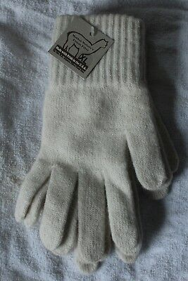 Alpaca Gloves - (Made in USA) Size XL Ivory