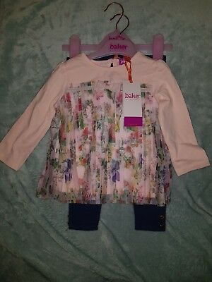 BNWT Ted Baker baby girls 2 piece pretty outfit 6-9 months
