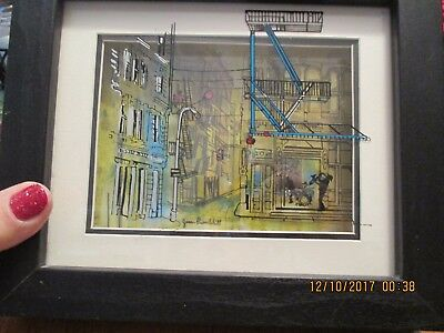 "JEAN-PIERRE WEILL ''Soho Jazz"" 3D Art Glass Framed Signed Wall Ready"