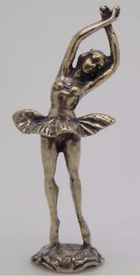 Vintage Solid Silver Italian Made Ballerina / Dancer Miniature, Figurine, Stamp