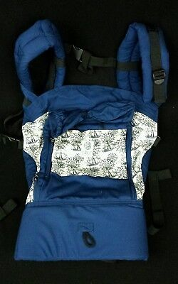 LilleBaby All Seasons Breathable 3D Mesh Baby Carrier 4 in 1 Seven Seas Navy NEW