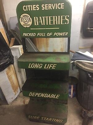 Cities Service Vintage Battery Display