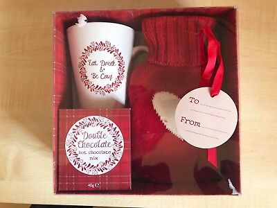 Red Hot Water Bottle Gift Set